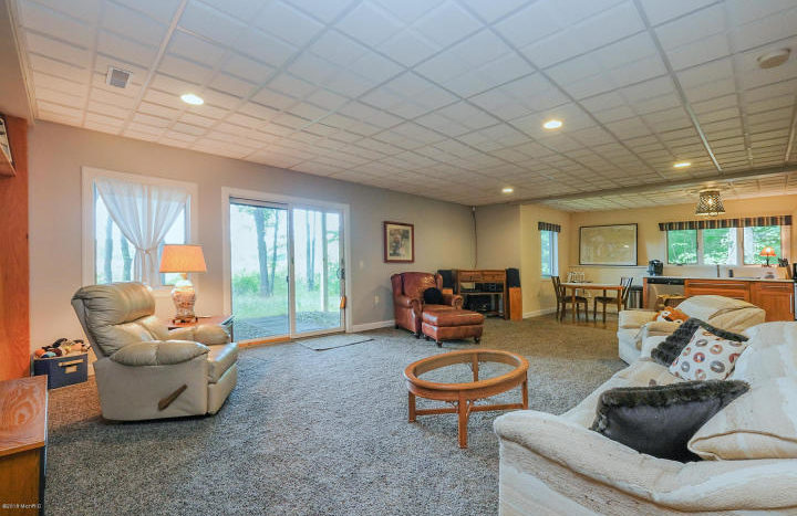 home on acreage with walkout level